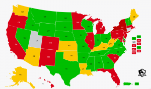 Utah Reciprocity Map